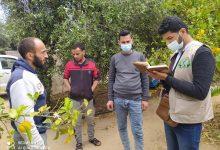 Photo of زراعة الوسطى تتفقد مزارعي البستنة الشجرية في منطقة النصيرات